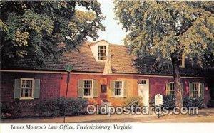 James Monroe's Law Office Fredericksburg, VA, USA Unused