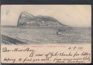 Gibraltar Postcard - Rock From S.Felipe   HM423