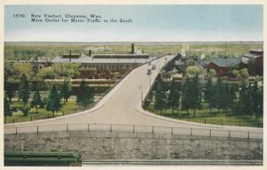 CHEYENNE, Wyoming, 1900-10s; New Viaduct, Main Outlet for Motor Traffic to th...
