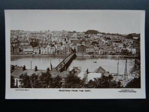 Devon & River Torridge BIDEFORD from the Fort - Old RP Postcard by Lilywhite