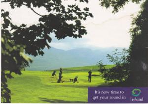 Post Card Advertising Ireland Golfing Irish Tourist Board