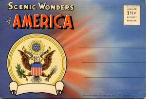 Folder - Scenic Wonders of America.  (18 views + covers + narrative)