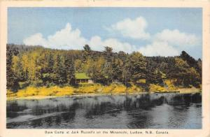 10111 New Brunswick Ludlow  1940's   Base Camp at Jack Russells on the M...