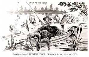 Ontario  Apsley Chandos Lake Lakeview Lodge Naked Mermaids