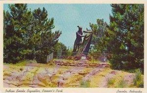 Nebraska Lincoln Indian Smoke Signaller Pioneers Park