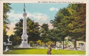Illinois Waukegan Soldiers Monument Court House Park