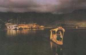 Paddling A Shikara Dal Lake Srinagar Kashmir Indian Postcard