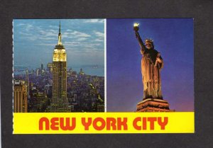 NY Empire State Bldg Building Statue of Liberty NYC New York City Postcard