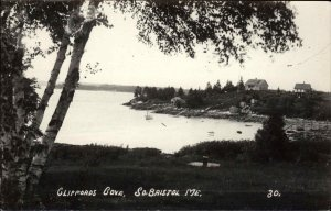 South Bristol ME Cliffords Cove 1953 Used Postcard