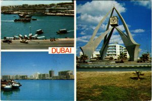 PC CPA U.A.E. , DUBAI, SCENES FROM DUBAI, REAL PHOTO POSTCARD (b16399)