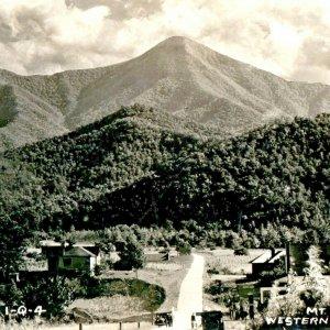 Postcard Historic Photo Postcard Mt Pisgah North Carolina ca 1920 Farmland Road