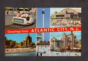 NJ Greetings From Atlantic City New Jersey Traymore Hotel Sky Tower Ride Chairs