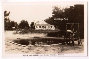RPPC, Devine Lake Lodge, Port Sydney, Muskoka Ont