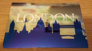High Quality Shiny Postcard London Silhouette Skyline (PLO00475) NEW