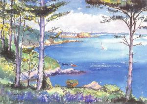 Guernsey Art Postcard 1990 Pine Forest by David Jory #106