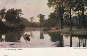 GUELPH , Ontario , Canada , 1905 ; On river Speed
