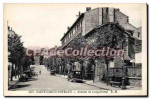 Postcard Old Saint Cloud Coteaux Avenue Longchamp