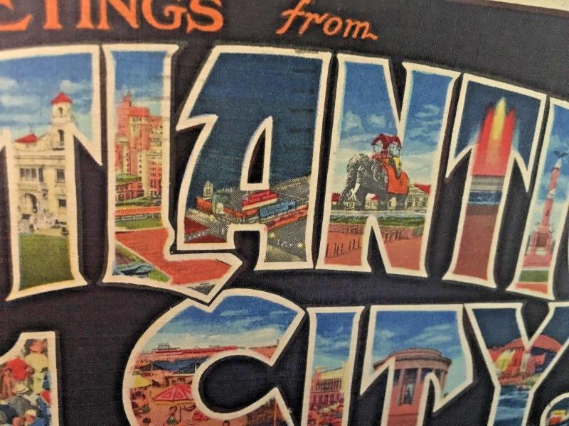 Postcard  Greetings from Atlantic City , NJ  Large Letter,    Y1