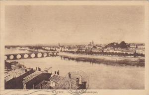 France Macon Vue Panoramique 1932