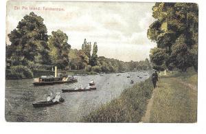 England -  Twickenham, London - Eel Pie Island unposted c 1905s #1243