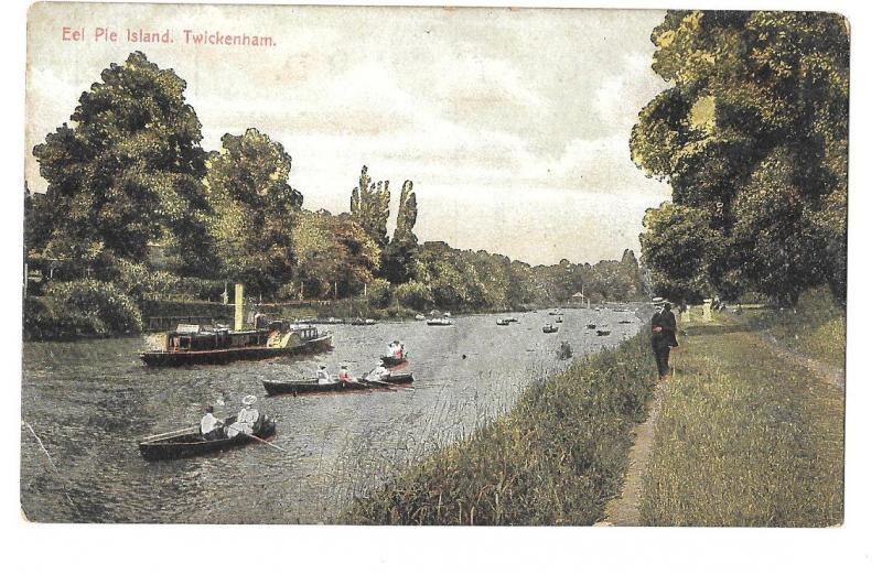 England -  Twickenham, London - Eel Pie Island unposted c 1905s #1243