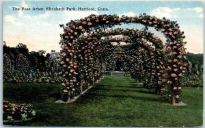 Hartford, Connecticut Postcard The Rose Arbor, Elizabeth Park c1910s Curteich