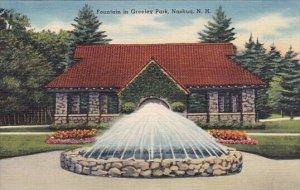 Fountain In Greeley Park Nashua New Hampshire