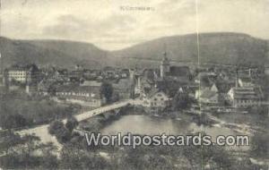 Kunzelsau Germany, Deutschland Postcard  Kunzelsau