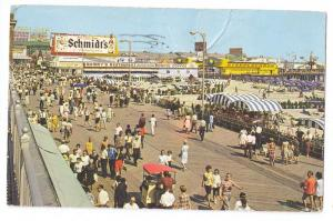 Boardwalk Schmidts Beer Billboard Ad Atlantic City NJ Chrome
