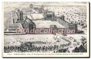 Postcard Old Vincennes And Perspective View From your old one Royal Castle Un...