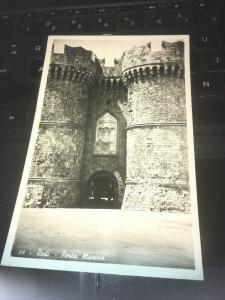 Vtg Postcard: Rodi Porta Marina, Greece 1942