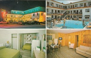WILDWOOD, New Jersey , 1987 ; Norman-D Apartments & Motels, 4-views, Pool