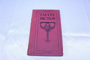 Vintage 1915 Copyright Funk & Wagnalls Faulty Diction Pocket Book 80 Pages