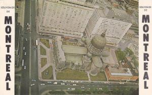 Aerial View of Basilica, Queen Elizabeth Hotel & Central Station, Montreal, Q...