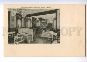 192038 SWITZERLAND TERRITET Grand Hotel Vintage postcard
