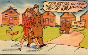 Humour Military You'd Better Go Mabel They Put The Lights Out At 9:30 1942