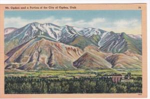 Utah Mt Ogden and Portion Of The City Of Ogden