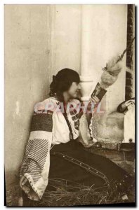 Old Postcard Romania Spinner Folklore