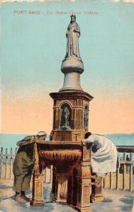 Egypt Cairo Port-Said, The Statua Queen Victoria, Statue