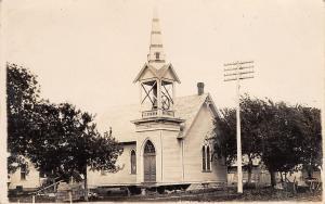 Danbury IA~United Methodist Episcopal~Come on Belltower~Ring That Bell RPPC 1908