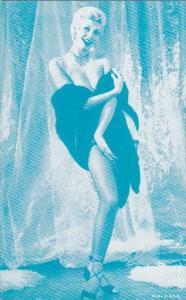 Vintage Arcade Card Semi Nude Risque Pin Up Girl