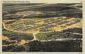 Hospital at Camp Edwards Mass USA Military Unused