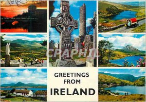 Modern Postcard Greetings from Ireland