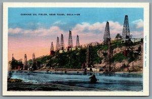 Postcard Cushing OK c1920s Cushing Oil Fields Payne County Oklahoma Defunct