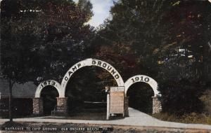 Entrance to Camp Ground, Old Orchard Beach, Maine, Early Postcard, Used