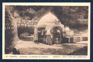 Fountain of Gastouri Achilleion Corfu Greece unused c1920's