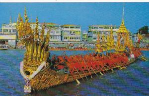 Thailand Bangkok The Nakaraj Barge in a Procession