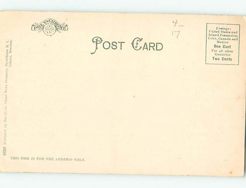 Pre-1907 STREET SCENE Fall River Massachusetts MA W2426