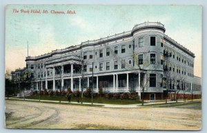 Postcard MI Mt Clemens The Park Hotel 1911 View U04