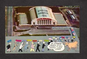 CA Cow Palace Republican Party Convention 1956 San Francisco California Postcard